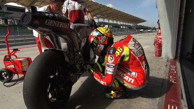 Sepang MotoGP Test 1 - Day 3 - Valentino Rossi in action