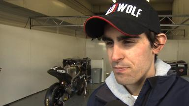 2012 - Moto2 - Jerez Test - Day 3 - Interview - Julian Simon
