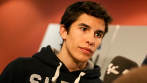 Marquez at the launch of his sponsor Garmin