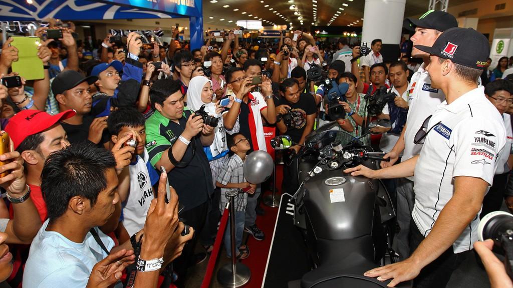 Lorenzo, Spies, Yamaha Factory Racing, International MotoXpo Kuala Lumpur