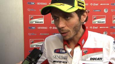 2012 - MotoGP - Sepang Test - Day 1 - Interview - Valentino Rossi
