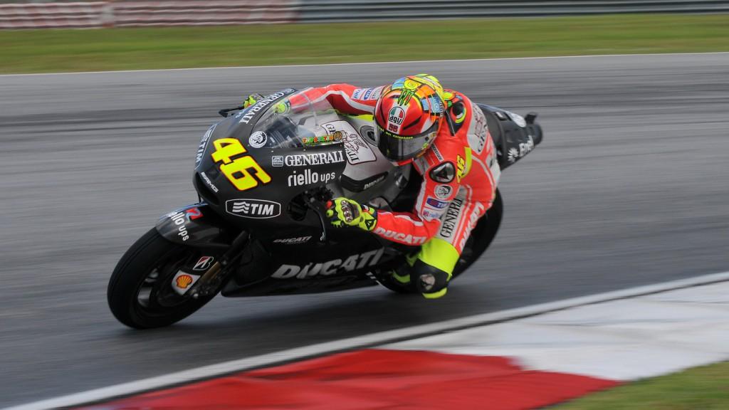 Valentino Rossi, Ducati Team, Sepang Test 2