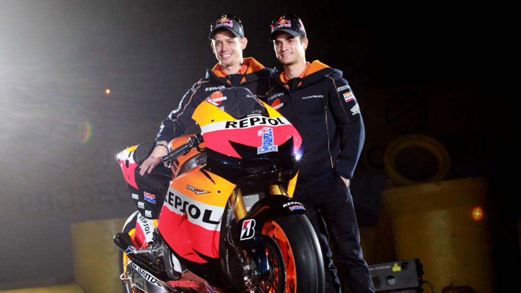 Casey Stoner, Dani Pedrosa - 2012 Repsol Honda Launch, Madrid - Spain