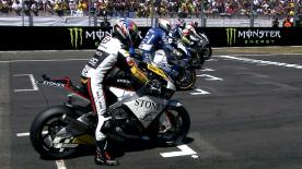 The Gresini Racing Moto2 rider moved to the top of the World Championship standings with his second straight win of the season at Le Mans. Julián Simón and Simone Corsi completed the podium.
