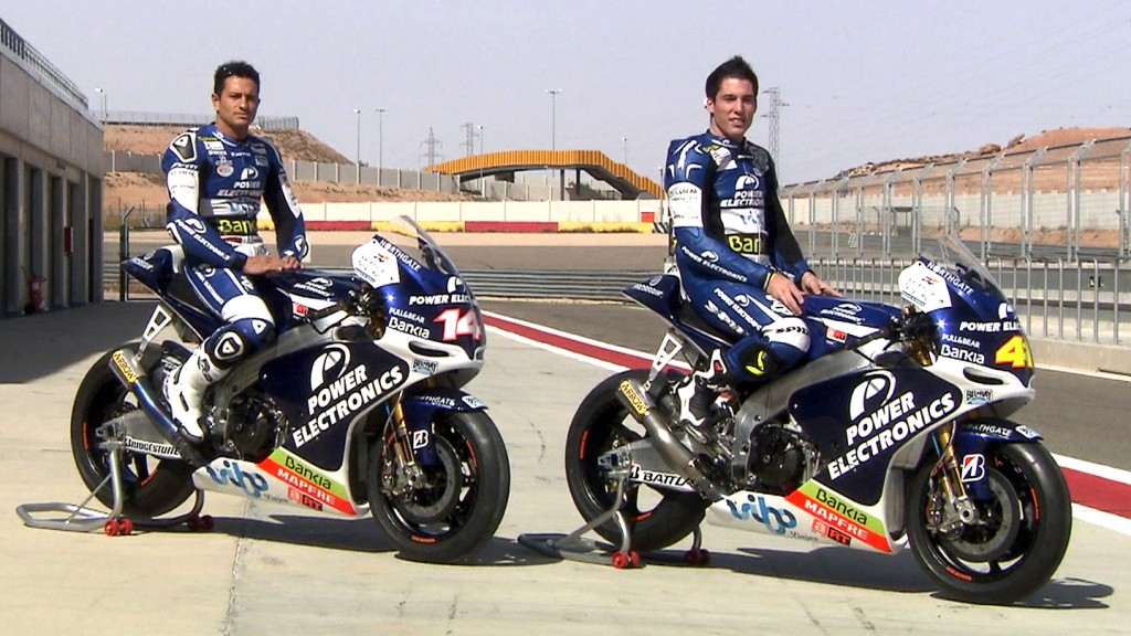 Randy de Puniet, Aleix Espargaro, Aspar Team MotoGP, Aragon Test