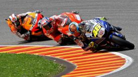 World Championship leader Valentino Rossi took his seventh premier class home victory at Mugello, in a dominant display by the Italian.