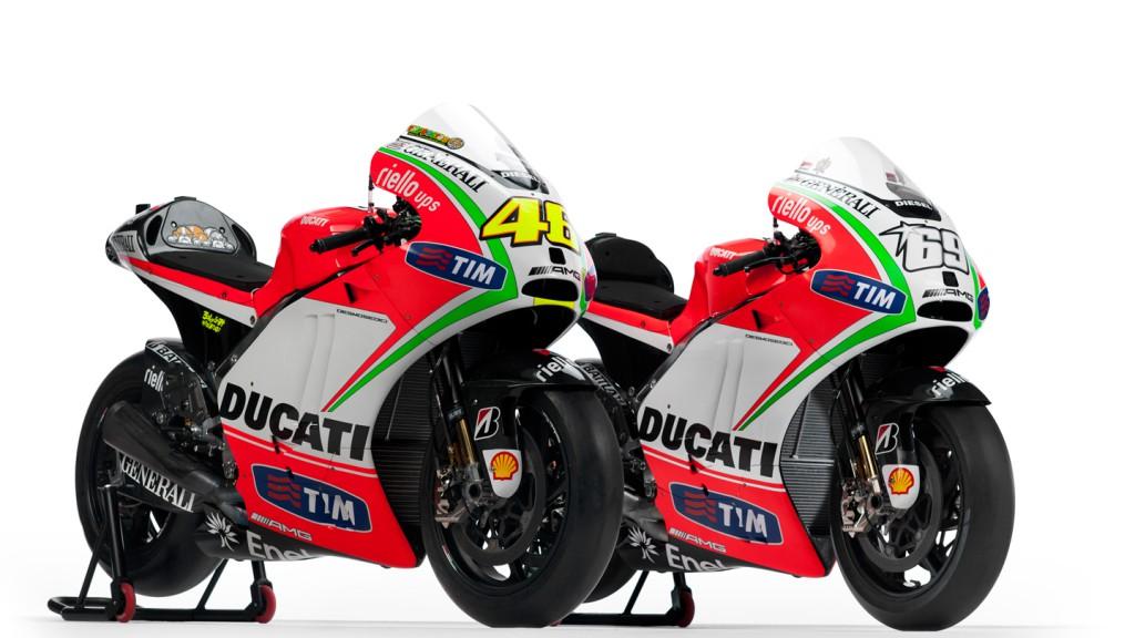 Rossi and Hayden's Ducati Desmosedici GP12