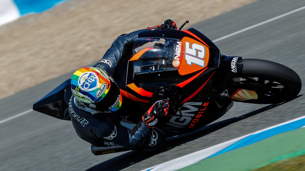 Alex de Angelis, NGM Mobile Forward Racing, Jerez Test