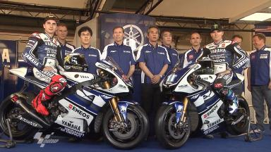 Yamaha unveils the 2012 YZR-M1