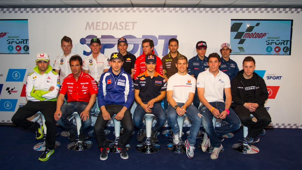 MotoGP Spanish line-up, Mediaset Presentation - Jerez Circuit