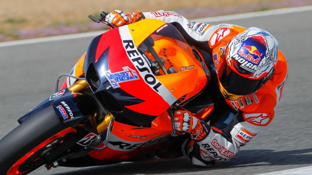 Casey Stoner, Repsol Honda Team, Jerez Test