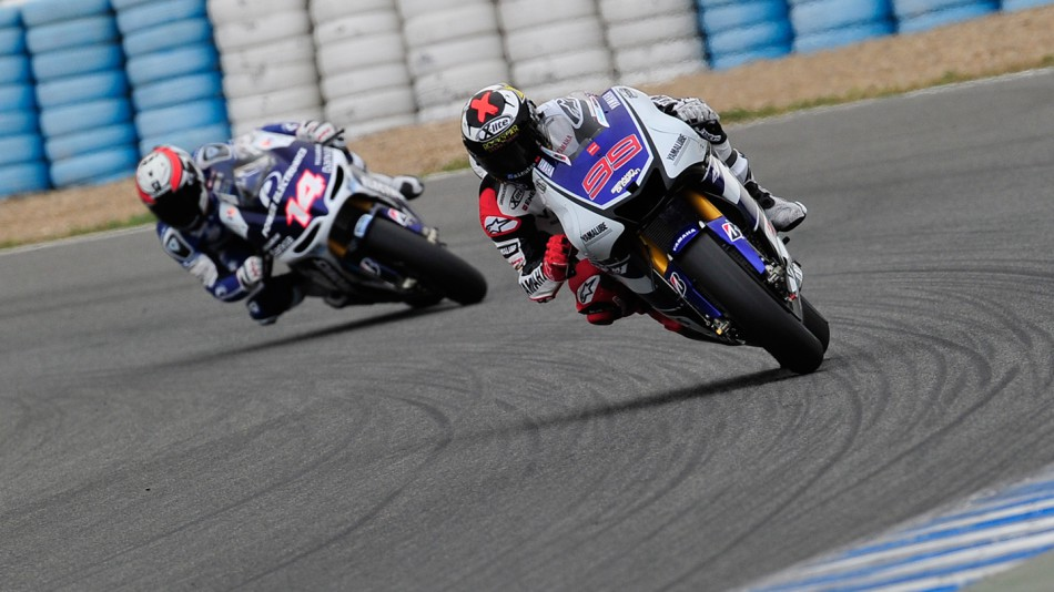 Jorge Lorenzo, Randy de Puniet, Yamaha Factory Racing, Power Electronics Aspar, Jerez Test