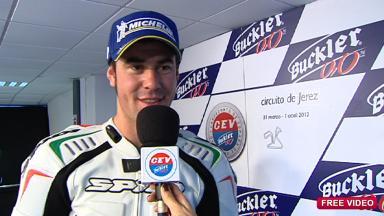 2012 - CEV - Jerez - Moto2 - Interview - Dani Rivas