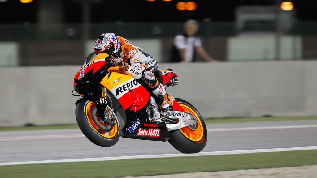 Casey Stoner, Repsol Honda Team, Qatar FP1