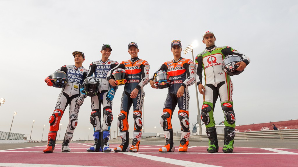 Lorenzo, Spies, Stoner, Pedrosa, Barbera, Yamaha Factory Racing, Repsol Honda Team, Pramac Racing Team, Qatar