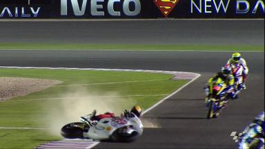 Qatar 2012 - Moto2- FP1 - Action - Marco Colandrea - Crash