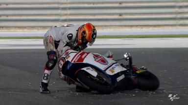 Qatar 2012 - Moto2- FP2 - Action - Gino Rea - Crash