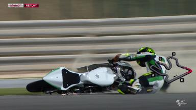 Qatar 2012 - Moto3 - FP3 - Action - Toni Finsterbush - Crash