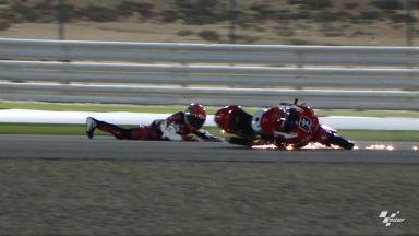 Qatar 2012 - Moto3 - FP3 - Action - Zulfahmi Khairuddin - Crash