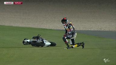 Qatar 2012 - Moto3 - FP3 - Action - Louis Rossi - Crash