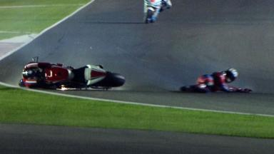 Qatar 2012 - MotoGP - QP - Action - James Ellison - Crash