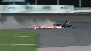 Qatar 2012 - MotoGP - QP - Action - Danilo Petrucci - Crash