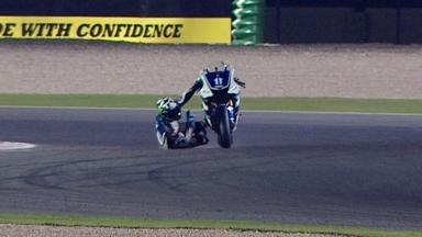 Qatar 2012 - MotoGP - QP - Action - Ben Spies - Crash
