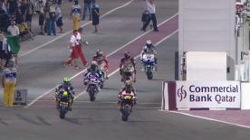 Jorge Lorenzo came out on top in a gripping head to head with Casey Stoner for pole position at the first round of the 2012 MotoGP™ World Championship, the Commercialbank Grand Prix of Qatar, whilst Cal Crutchlow made it two Yamahas on the front row with his best-ever qualifying display.