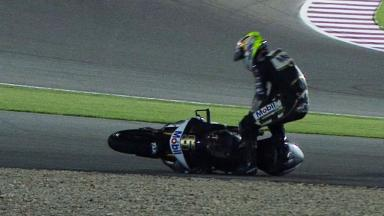 Qatar 2012 - Moto2 - QP - Action - Johann Zarco - Crash