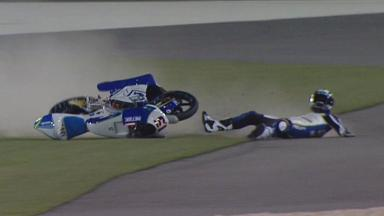 Qatar 2012 - Moto3 - QP - Action - Simone Grotzkyj - Crash