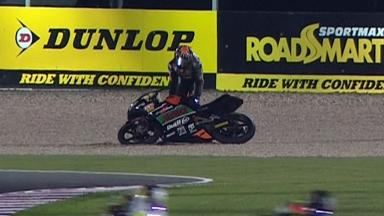 Qatar 2012 - Moto3 - Warm Up - Action - Niklas Ajo - Crash