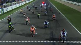 Jorge Lorenzo triumphed at the Commercialbank Grand Prix of Qatar ahead of Dani Pedrosa and Casey Stoner after an excellent ride saw the Spaniard claim victory from pole position, as the 2012 MotoGP™ World Championship got off to a marvellous start.