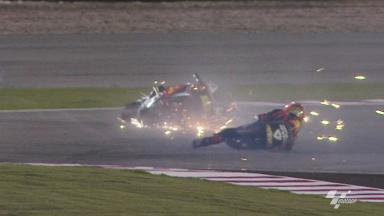 Qatar 2012 - MotoQP - Warm Up - Action - Alvaro Bautista - Crash