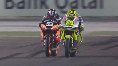 Qatar 2012 - Moto2 - Race - Action - Race Winning Overtake