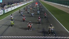 The Moto2™ Commercialbank Grand Prix of Qatar produced a nailbiting finish in which Marc Márquez beat Andrea Iannone to victory by six-hundredths of a second. Pol Espargaró took third in the opening race of the 2012 World Championship at Losail.