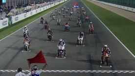 Maverick Viñales won as Moto3 made its World Championship debut at the Commercialbank Grand Prix of Qatar, with rookie Romano Fenati finishing second in a magnificent debut ride and Sandro Cortese taking the final podium spot.