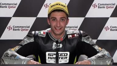 Qatar 2012 - Moto2 - Race - Interview - Andrea Iannone