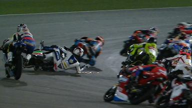 Qatar 2012 - Moto3 - Race - Action - Alessandro Tonucci - Crash
