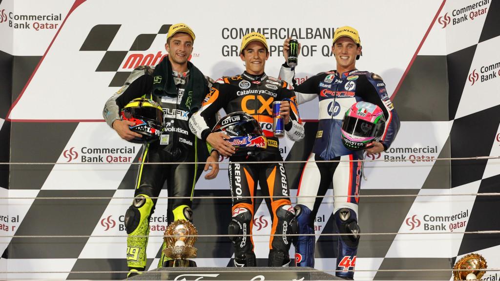 Iannone, Marquez, Espargaro, Speed Master, Team CatalunyaCaixa Repsol, Pons 40 HP Tuenti, Qatar RAC