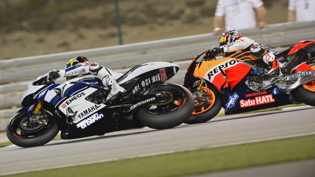 Jorge Lorenzo, Dani Pedrosa, Yamaha Factory Racing, Repsol Honda Team, Qatar RAC