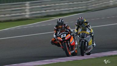 Marquez vs Lüthi at Losail