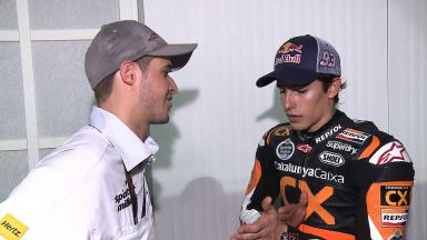 Marquez and Lüthi discuss race incident