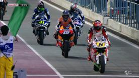 The Repsol Honda rider went quickest in the short warm up session for the Commercialbank Grand Prix of Qatar, as the MotoGP™ class made its final preparations before Sunday evening's race.
