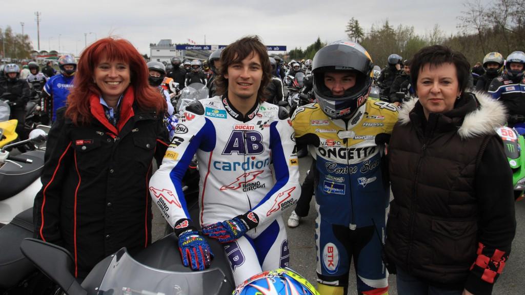Abraham, Kornfeil, Simoncelli Tribute, Brno Circuit