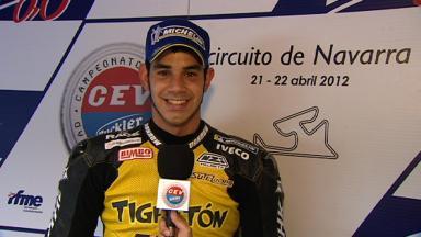 2012 CEV - Navarra - Moto2 - Interview - Jordi Torres