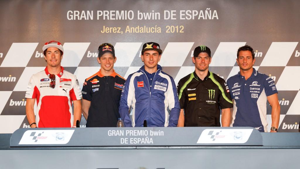 Hayden, Stoner, Lorenzo, Crutchlow, De Puniet, Gran Premio bwin de España Press Conference