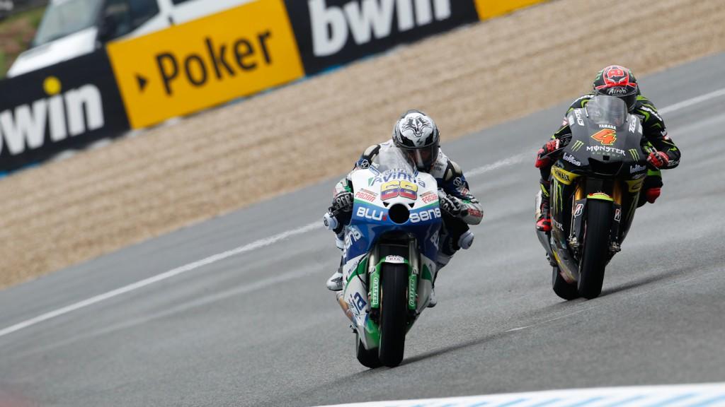 Yonny Hernandez, Andrea Dovizioso, Avintia Blusens, Monster Yamaha Tech 3, Jerez FP2