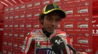 Rossi happy with feeling in the wet