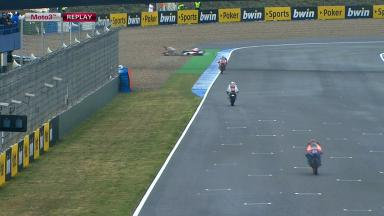 Jerez 2012 - Moto3 - FP2 - Action - Danny Webb - Crash