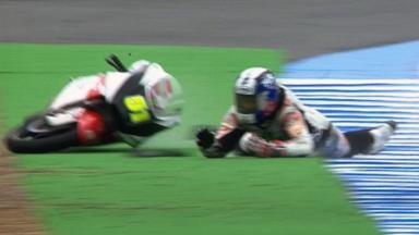 Jerez 2012 - Moto3 - FP3 - Action - Kenta Fujii - Crash
